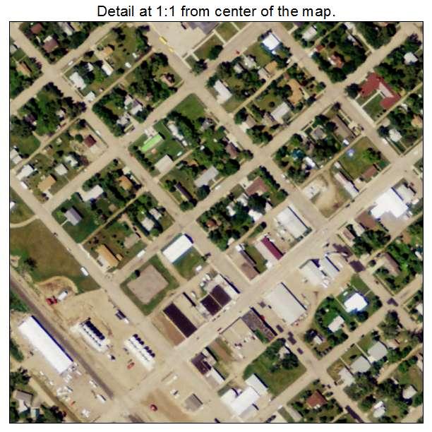 Bowbells, North Dakota aerial imagery detail