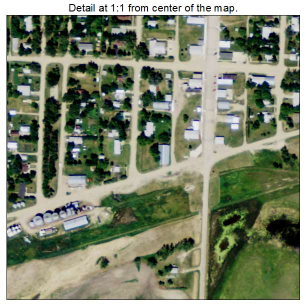 Bowdon, North Dakota aerial imagery detail