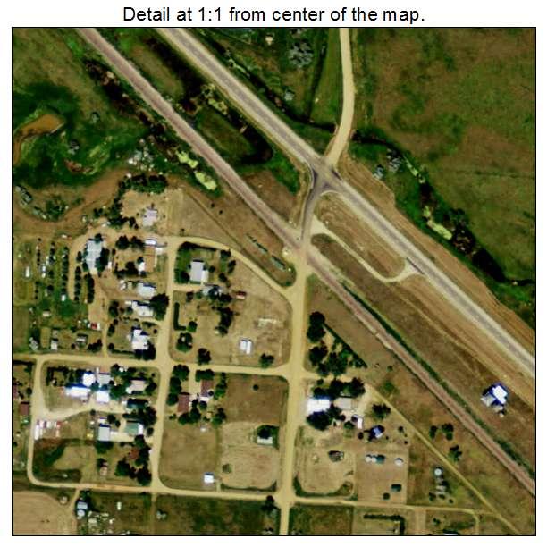 Bucyrus, North Dakota aerial imagery detail