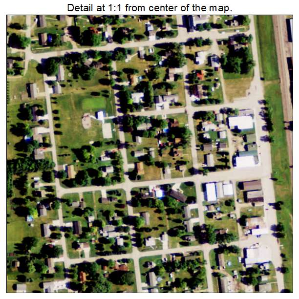 Buxton, North Dakota aerial imagery detail