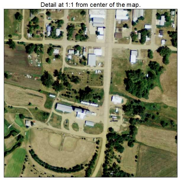 Flasher, North Dakota aerial imagery detail