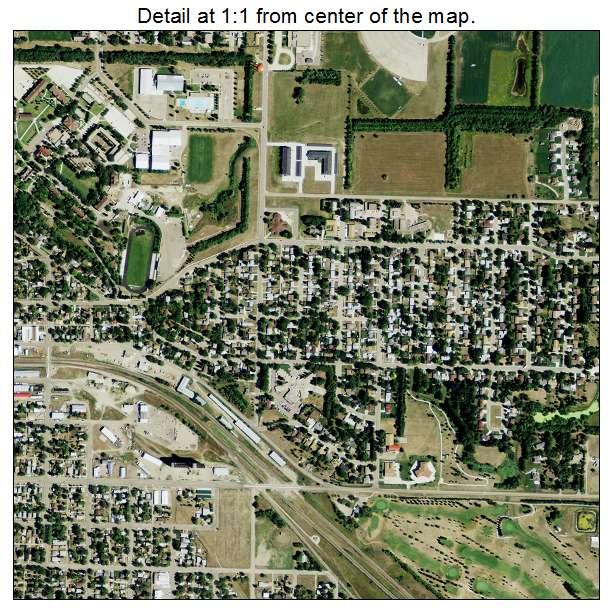 Jamestown, North Dakota aerial imagery detail