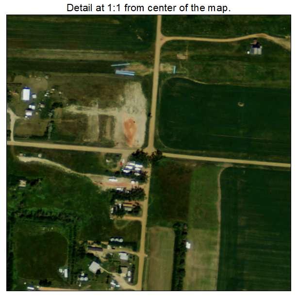 Rawson, North Dakota aerial imagery detail