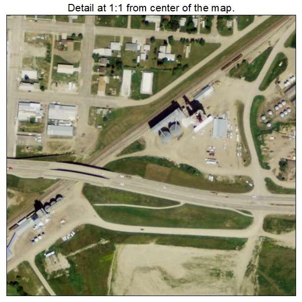 Ray, North Dakota aerial imagery detail