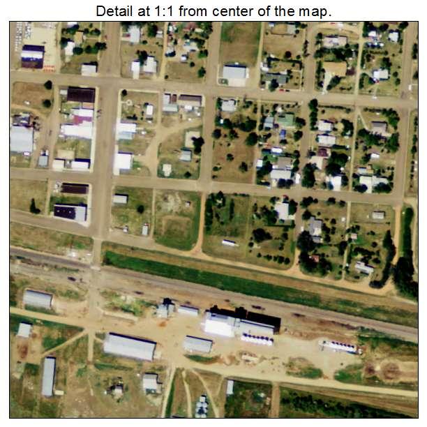 Reeder, North Dakota aerial imagery detail