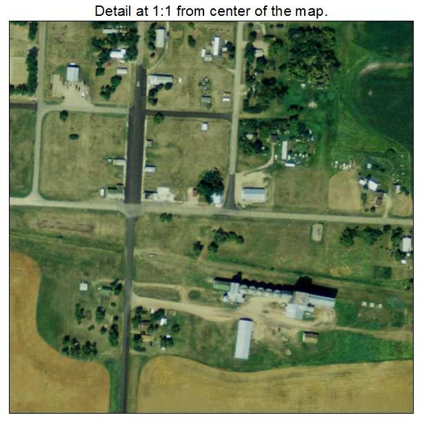 Regan, North Dakota aerial imagery detail