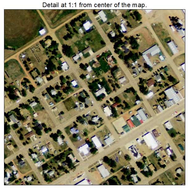 Regent, North Dakota aerial imagery detail