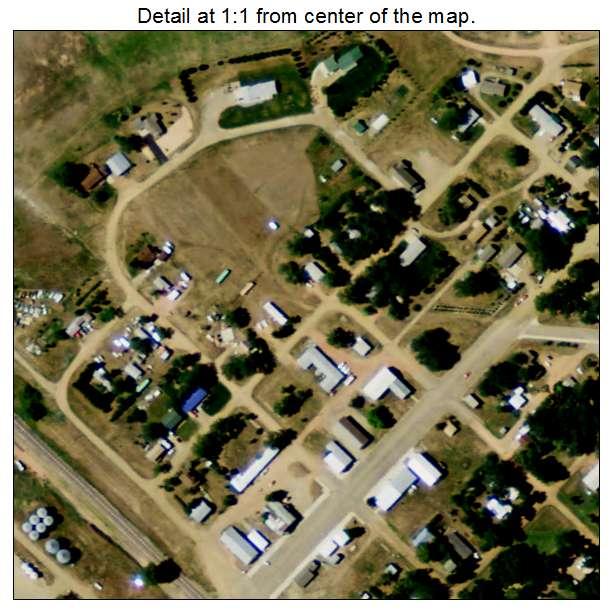 Rhame, North Dakota aerial imagery detail