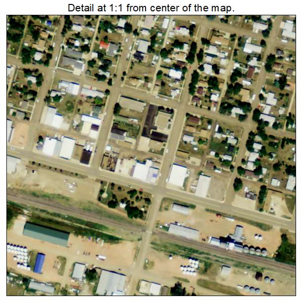 Richardton, North Dakota aerial imagery detail