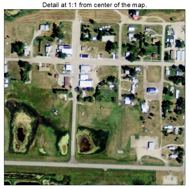 Robinson, North Dakota aerial imagery detail