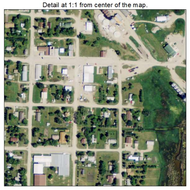 Rocklake, North Dakota aerial imagery detail