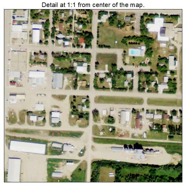Rolette, North Dakota aerial imagery detail