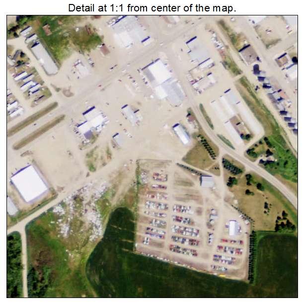 Rolla, North Dakota aerial imagery detail