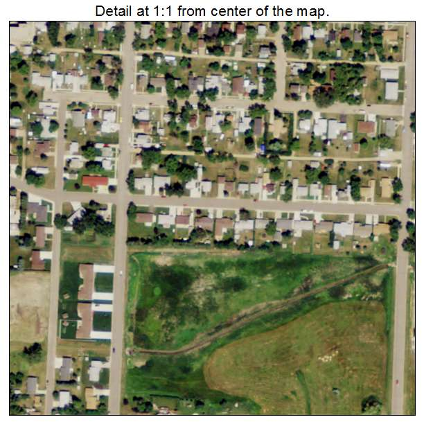 Rugby, North Dakota aerial imagery detail