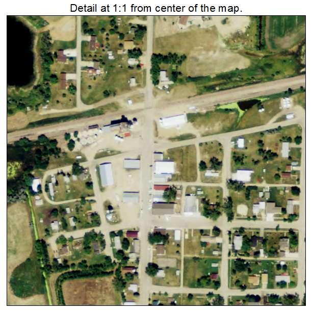 Rutland, North Dakota aerial imagery detail