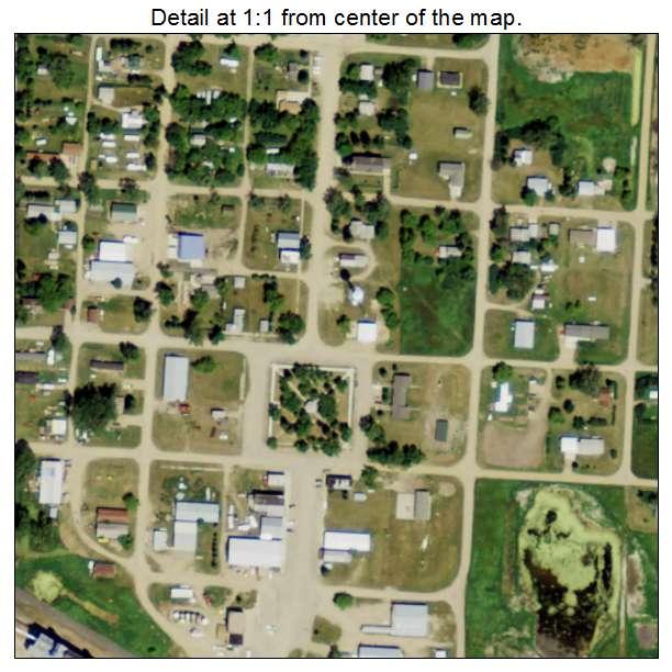 Ryder, North Dakota aerial imagery detail