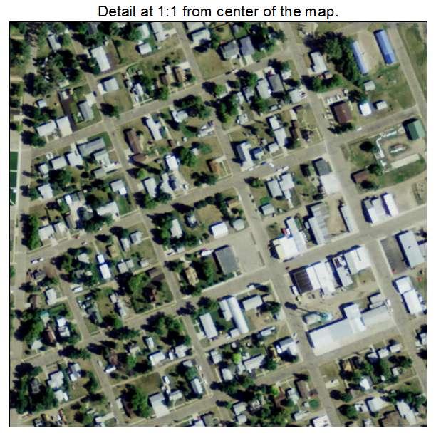 Underwood, North Dakota aerial imagery detail