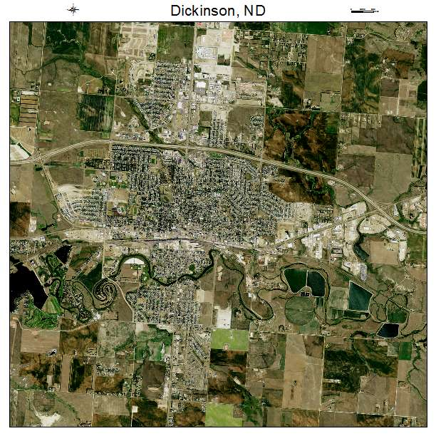 Dickinson, ND air photo map
