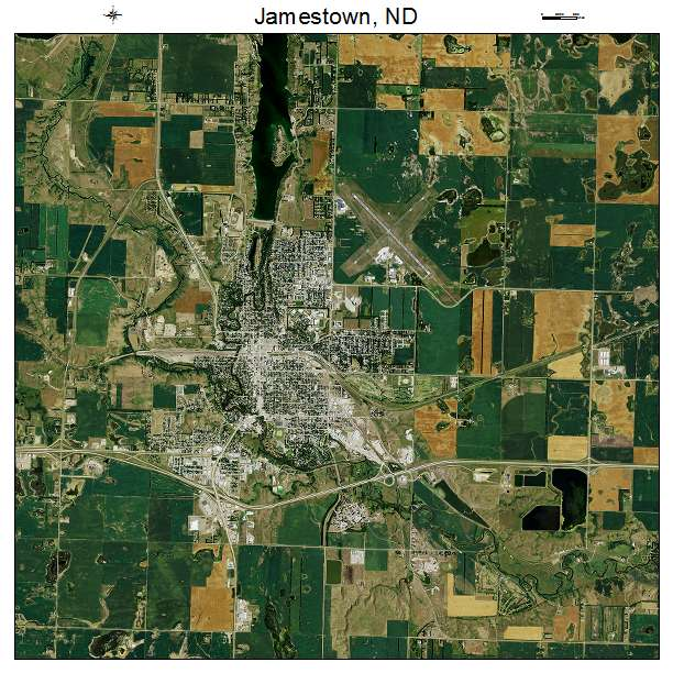 Jamestown, ND air photo map