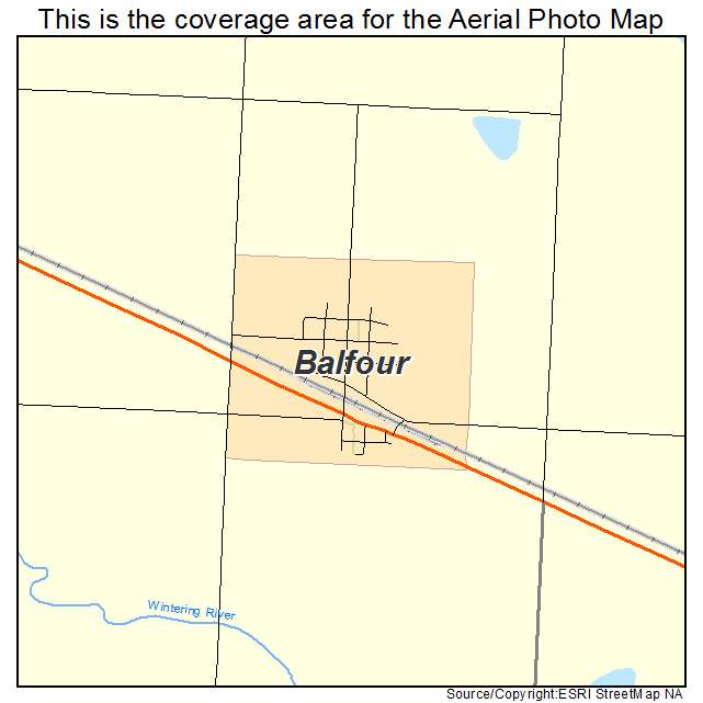 Balfour, ND location map