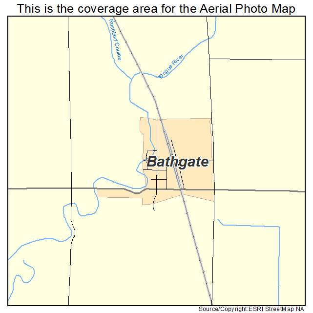 Bathgate, ND location map