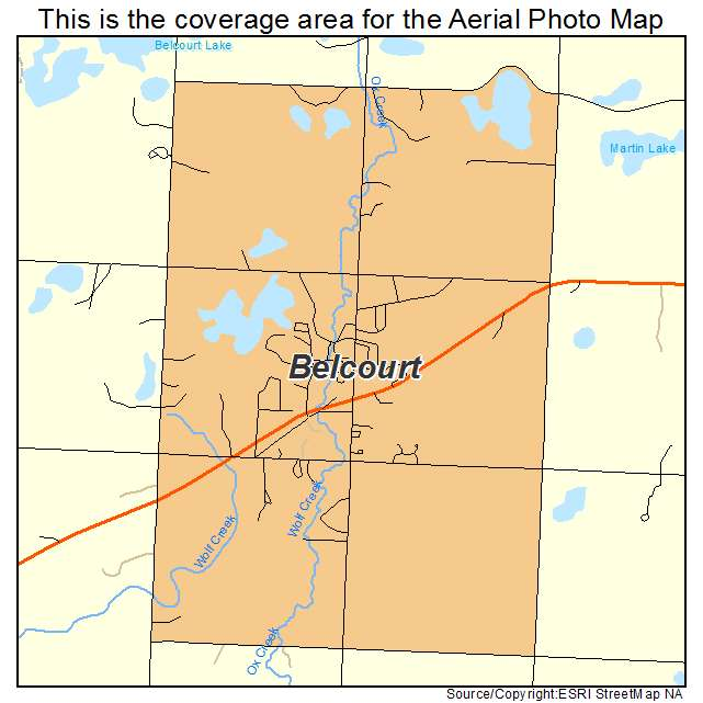 Belcourt, ND location map