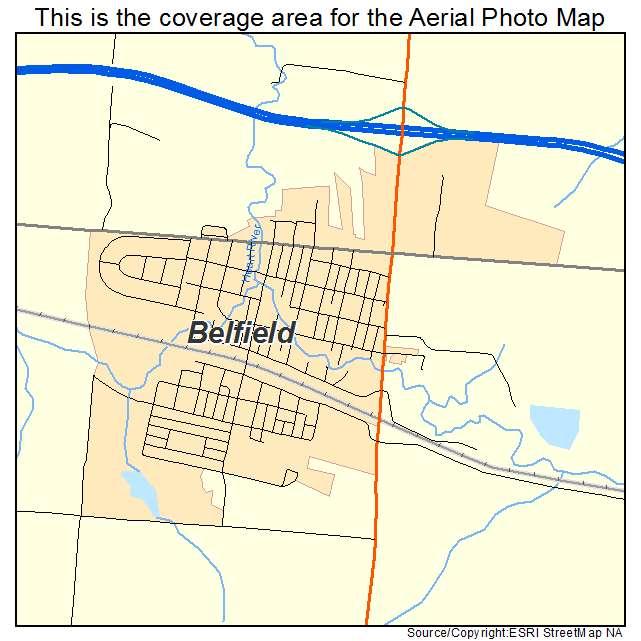 Belfield, ND location map