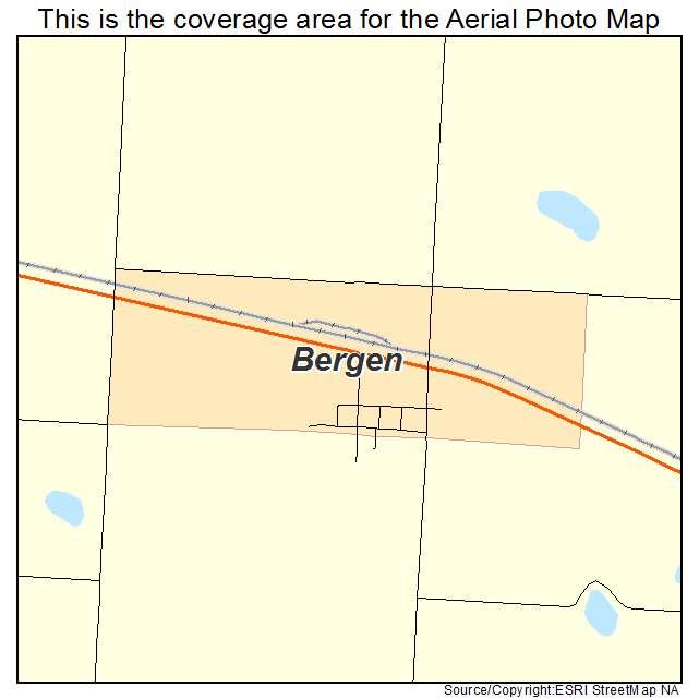 Bergen, ND location map