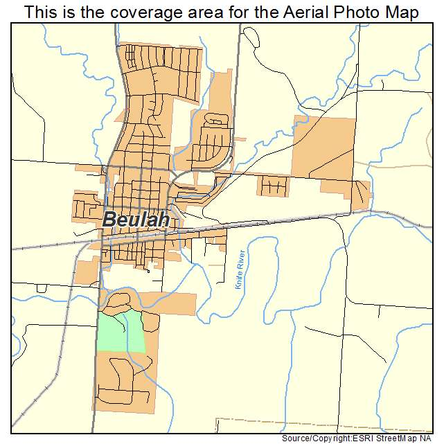 Beulah, ND location map