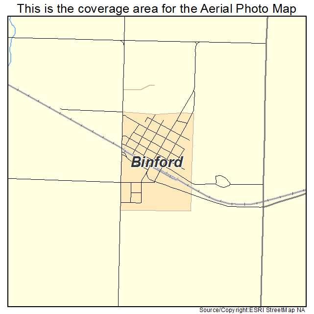 Binford, ND location map
