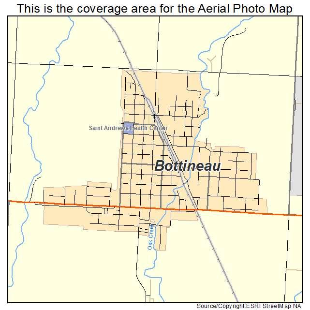 Bottineau, ND location map
