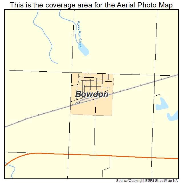 Bowdon, ND location map