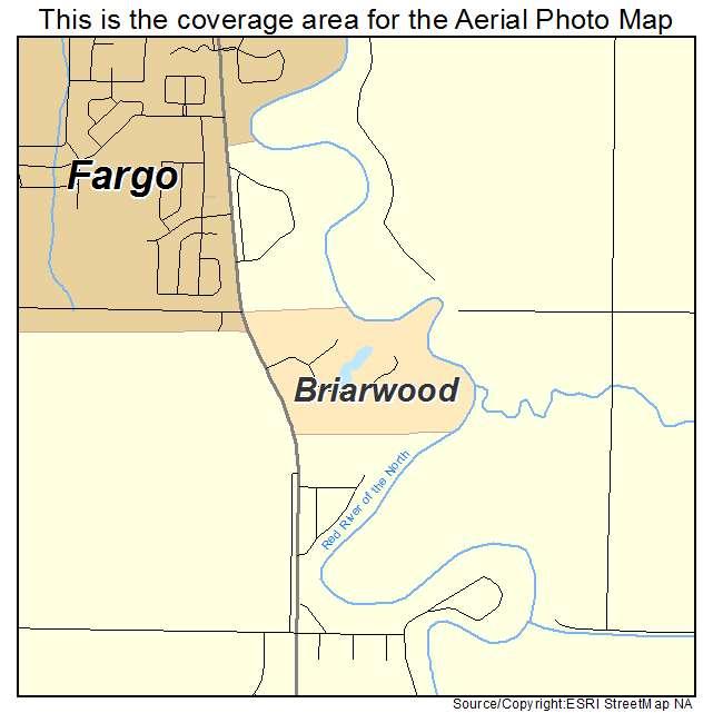 Briarwood, ND location map