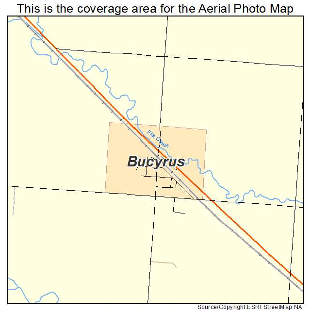 Bucyrus, ND location map