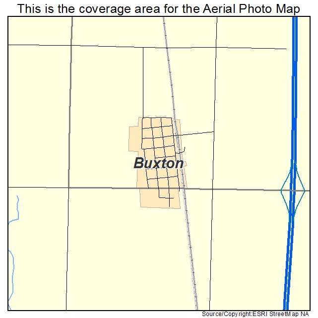 Buxton, ND location map