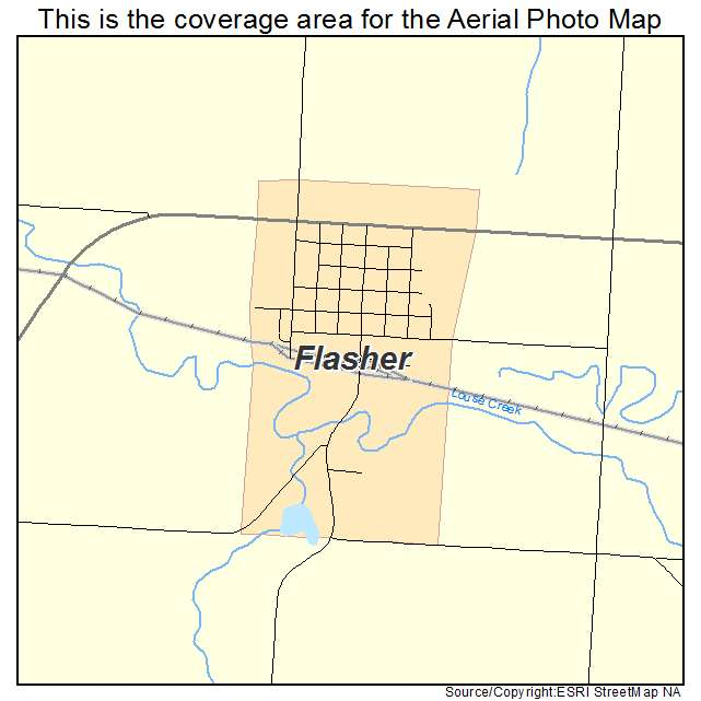 Flasher, ND location map