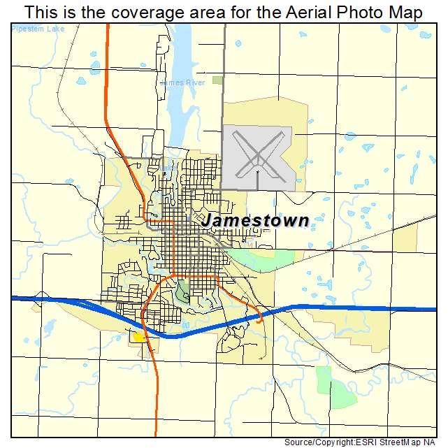 Jamestown, ND location map