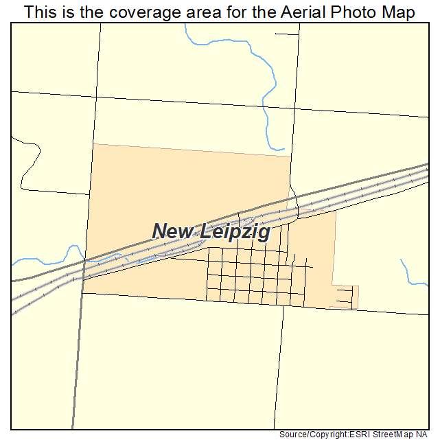 Aerial Photography Map of New Leipzig ND North Dakota