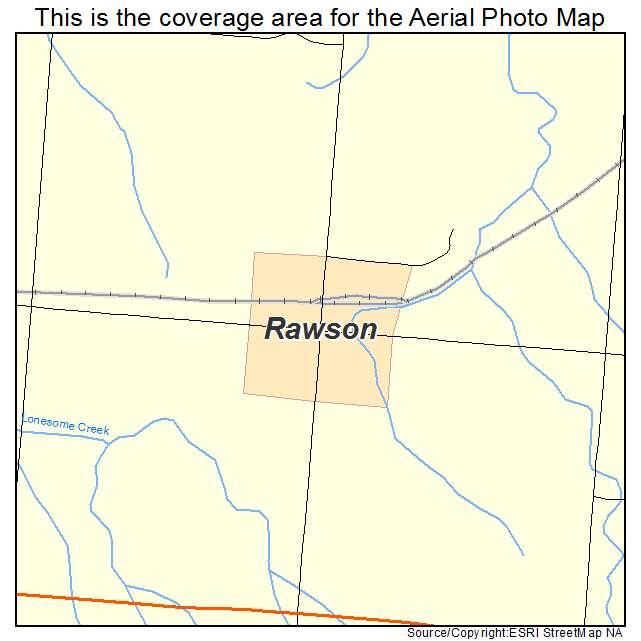 Rawson, ND location map