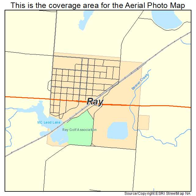 Ray, ND location map