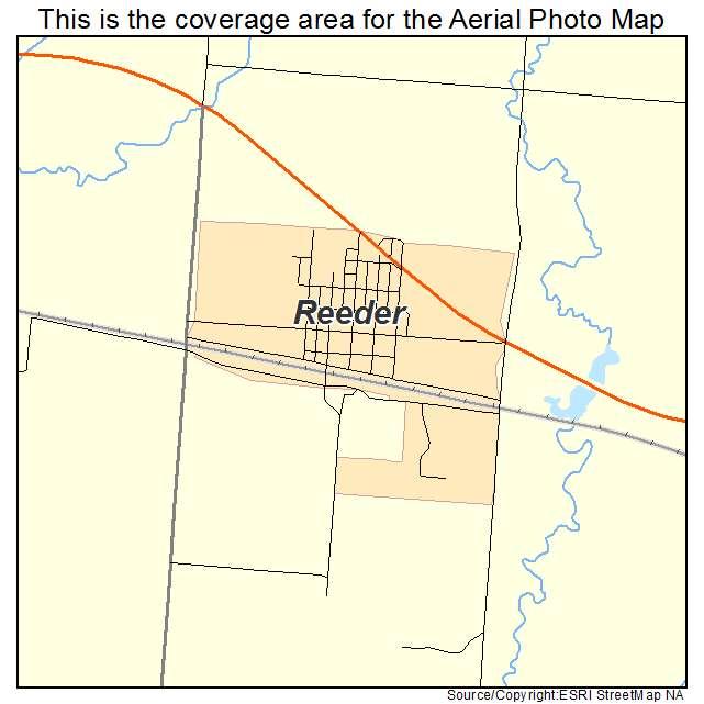 Reeder, ND location map