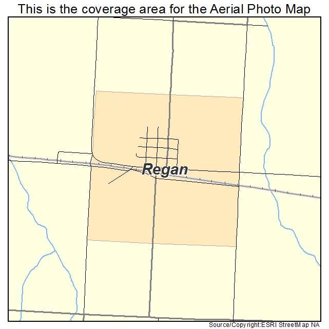 Regan, ND location map