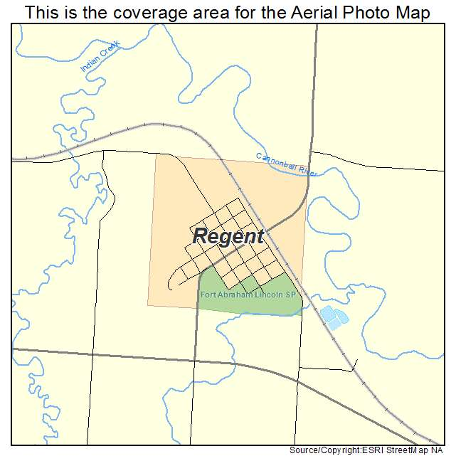 Regent, ND location map