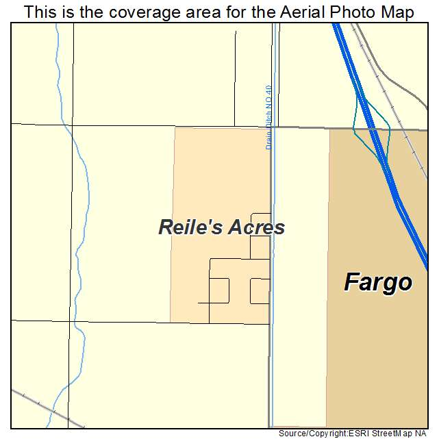 Reiles Acres, ND location map