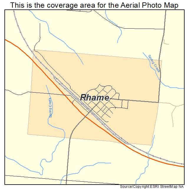 Rhame, ND location map