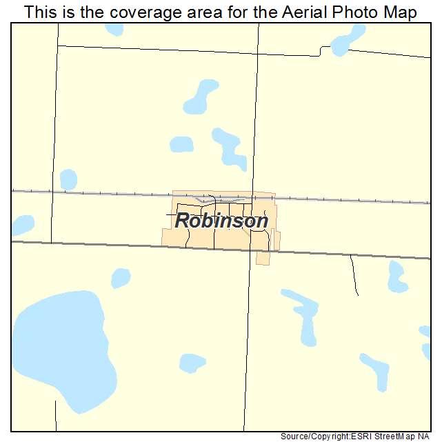 Robinson, ND location map