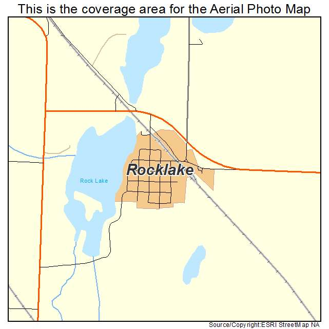 Rocklake, ND location map