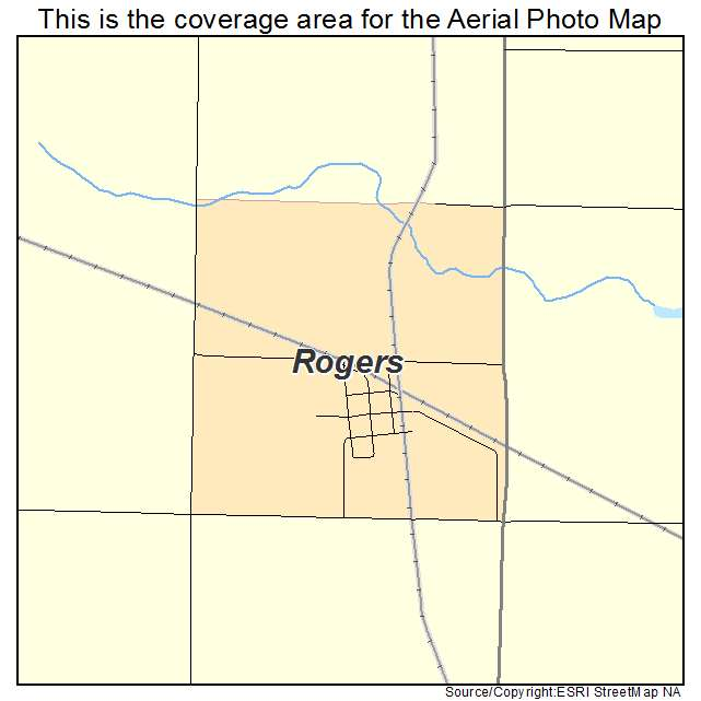 Rogers, ND location map