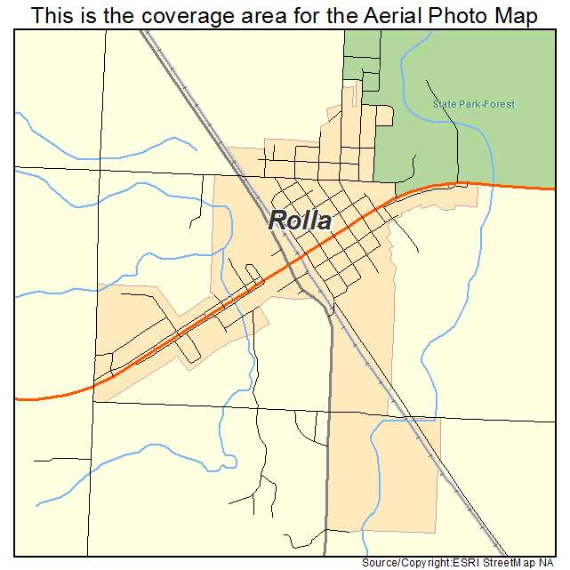 Rolla, ND location map