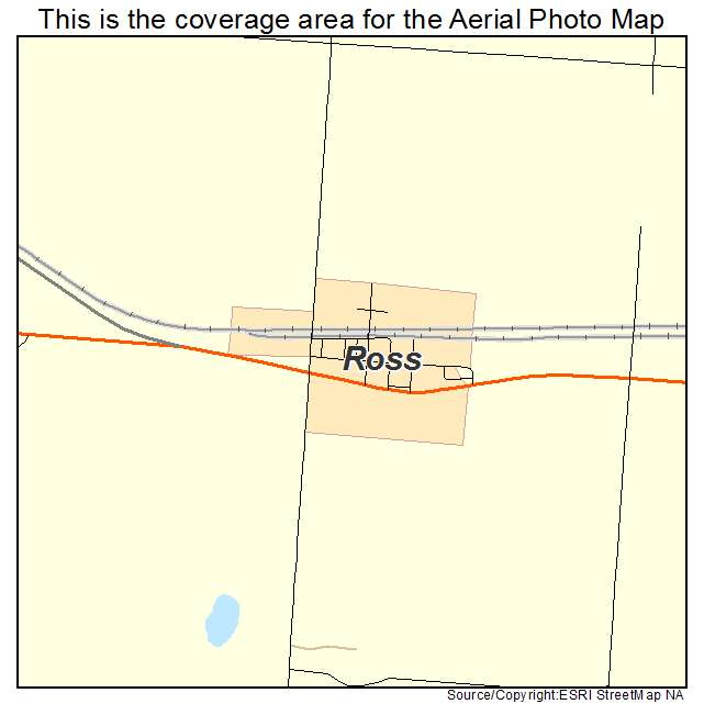 Ross, ND location map